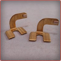 Precision Stamping of Brass & Silver Left Hand Electrical Load Terminals
