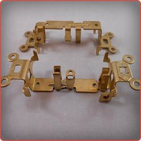 Forming of a Brass on Brass Electrical Strap Subassembly